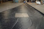 reinforced geomembrane, baffle curtain, flow-through window