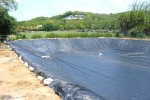 reinforced pond liner, Lange Containment, Denver, Colorado, polyethylene liner