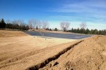 Irrigation pond, liner installation, Colorado, Lange Containment, PVC liner