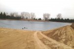 Irrigation pond, liner, Lange Containment, PVC liner