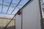 Colorado liner, baffle curtain, Lange containment, installation of liner